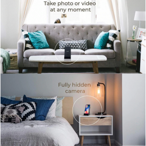 Caricabatterie wireless con spy cam
